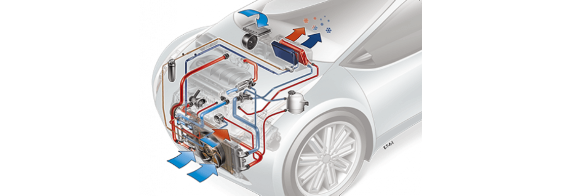 Car condensers for air conditioning system
